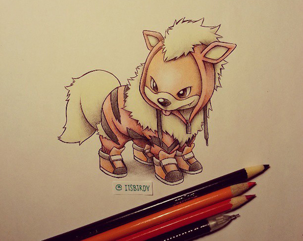 Pokémon: Growlithe (Evolução Arcanine)